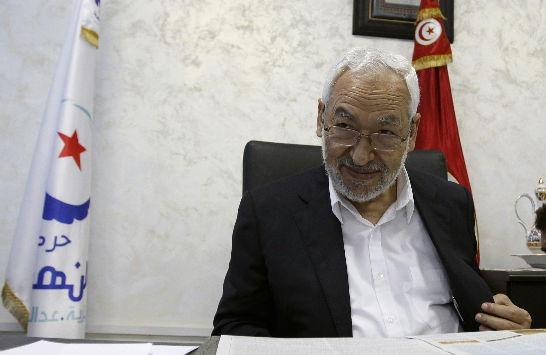 Rached Ghannouchi, lãnh tụ đảng Hồi giáo Ennahda, tại Tunis ngày 05/08/2013.