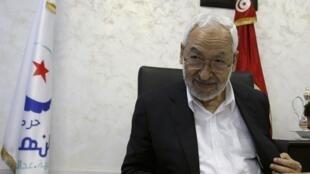 Rached Ghannouchi, le dirigeant du parti Ennahda, le 5 août dernier à Tunis.