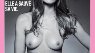 Cartaz oficial da campanha 2011 de prevenção e combate ao câncer de mama.