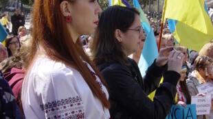 На избирательном участке в Испании голосуют на выборах украинского президента, 25 мая 2014 года