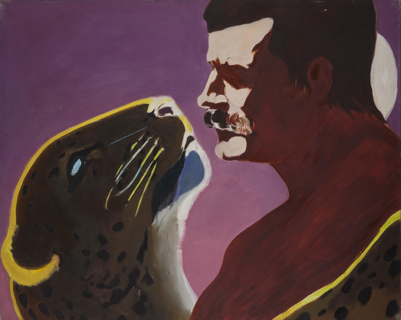 'La pantera y el soldado', octavo óleo del ciclo 'Una pasión en el desierto' de Gilles Aillaud (1928-2005), Eduardo Arroyo (1937-) y Antonio Recalcati (1938-).