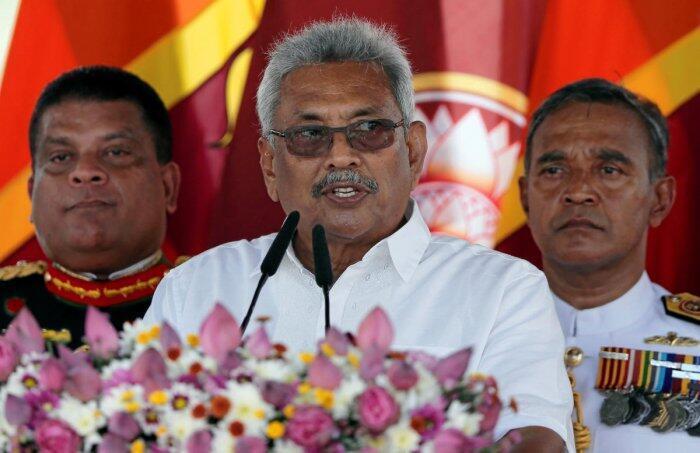 斯里兰卡新任总统戈塔巴雅·拉贾帕克萨资料图片