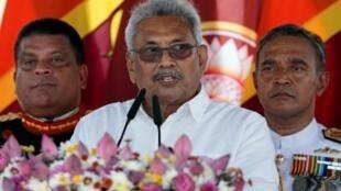 斯里蘭卡新任總統戈塔巴雅·拉賈帕克薩資料圖片