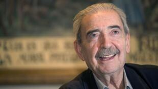 Le poète argentin Juan Gelman, ici en 2008, est décédé à Mexico ce 15 janvier 2013.