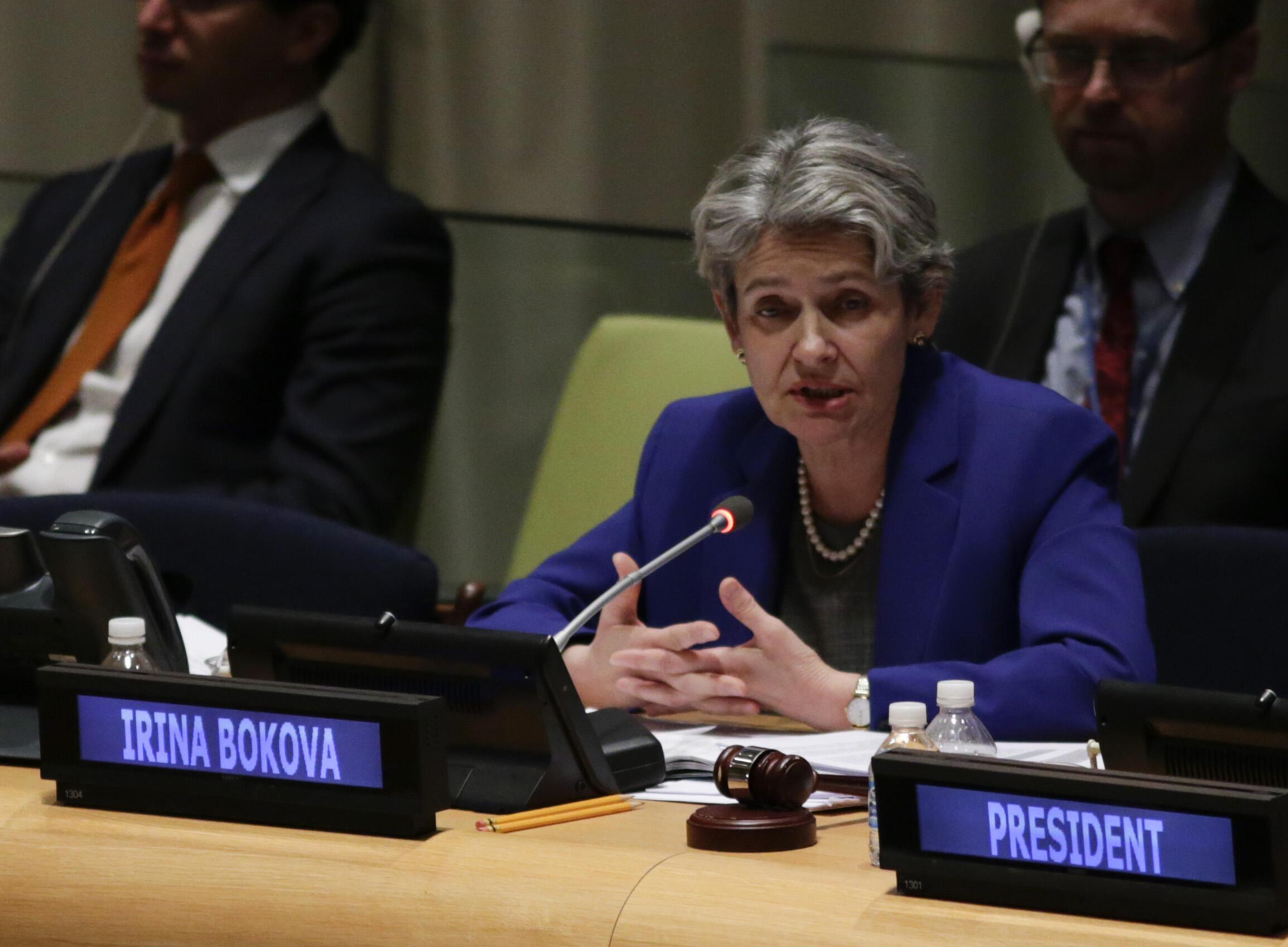 Bà Irina Bokova, tổng giám đốc UNESCO
