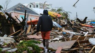 Vết tích cơn bão Dorian ở Marsh Harbour, đảo Grand Abaco, Bahamas. Ảnh 2/09/2019.