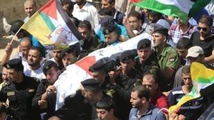 Les funérailles de Saad Dawabsheh ont eu lieu samedi 8 août 2015 à Douma, en Cisjordanie.