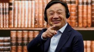 中國華為創始人任正非資料圖片