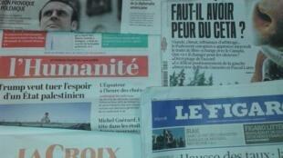 Jornais franceses do dia 16 de Fevereiro de 2017