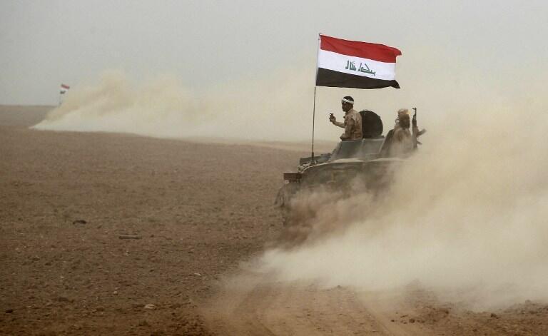 Иракская армия на юге Мосула