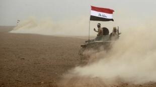Les forces irakiennes au sud de Mossoul, le 1er novembre 2016.
