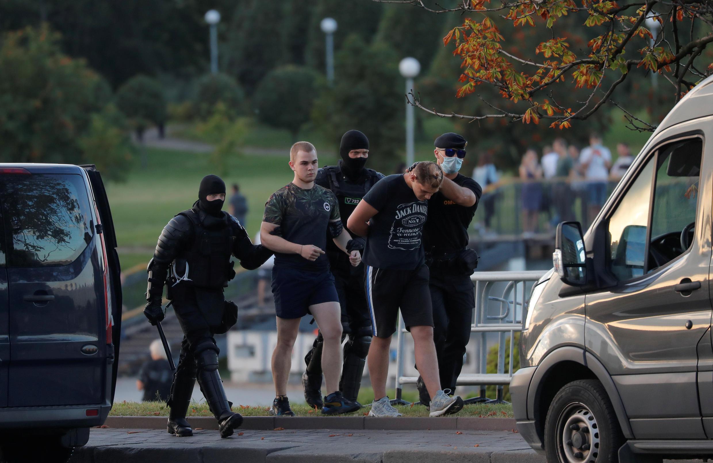 Задержания в Минске вечером 10 августа 2020.