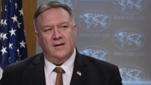 Estados Unidos não conseguiram votos de parceiros na ONU  para sancionar o Irão. Na foto Mike Pompeo denuncia incapacidade de parceiros