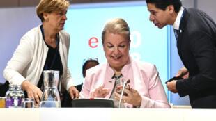 Beate Hartinger-Klein, ministre fédérale autrichienne du Travail, des Affaires sociales, de la Santé et de la Protection du consommateur. Vienne, le 19 juillet dernier.