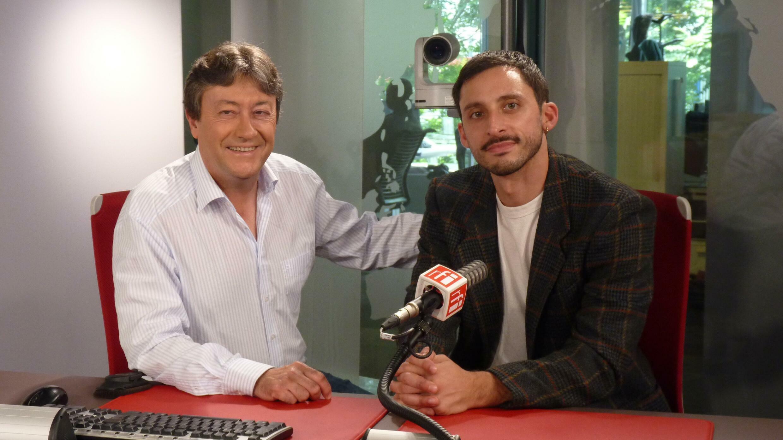 El pianista francés de origen argentino Pablo Campos y Jordi Batallé en RFI