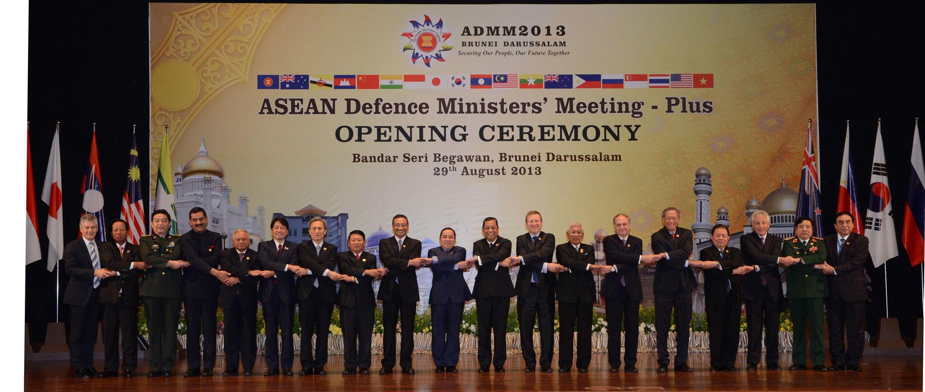 Hội nghị Bộ trưởng Quốc phòng ASEAN ADMM+ tại Brunei. Ảnh chụp ngày 29/08/2013.
