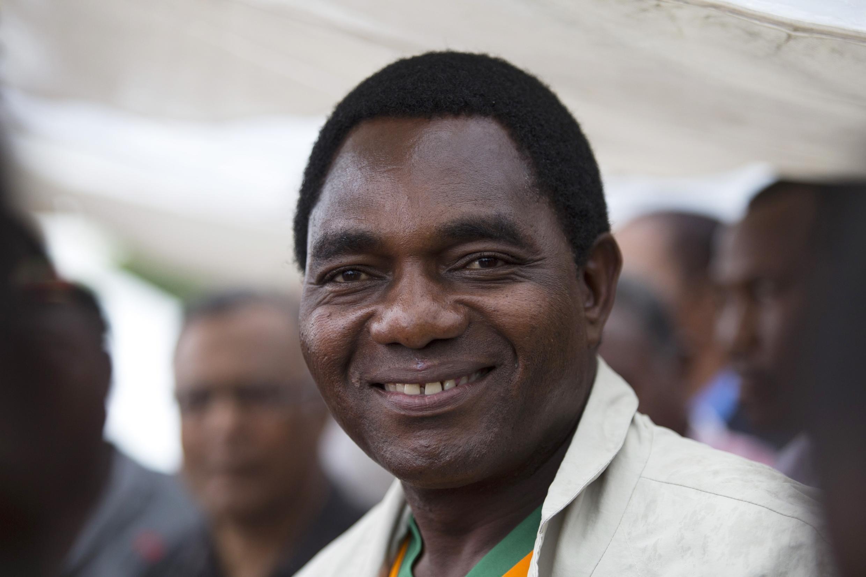 Hakainde Hichilema , kiongozi wa Upinzani nchini Zambia