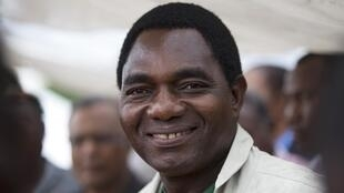 Hakainde Hichilema, le chef de l'opposition zambienne.