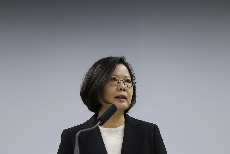 圖為台灣新選總統蔡英文