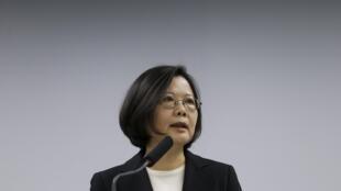 图为台湾新选总统蔡英文