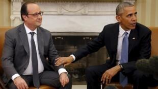 Франсуа Олланд и Барак Обама в Белом доме, 24 ноября 2015.