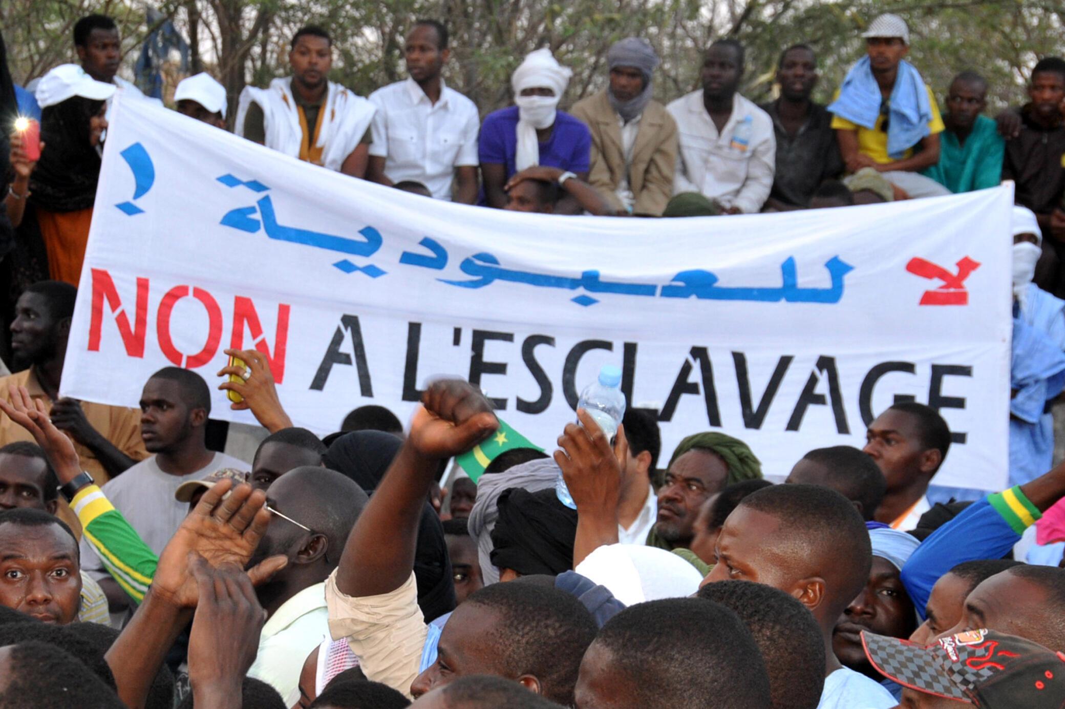 Une manifestation contre l'esclavage et la discrimination à Nouakchott en 2015.