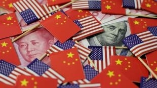 中美贸易战报道图片