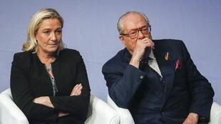 Marine et Jean-Marie Le Pen