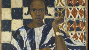 Duco Sangharé - Peuhl de Fernand Lantoine voyage en Afrique du Nord dans les années 1920. Huile sur toile.