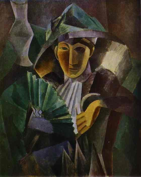 Пабло Пикассо «Женщина с веером» (1909 год)