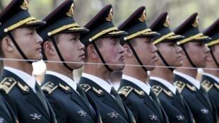 Soldats de l'armée chinoise à Pékin (image d'illustration).