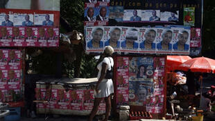 Election posters in Port-au-Prince