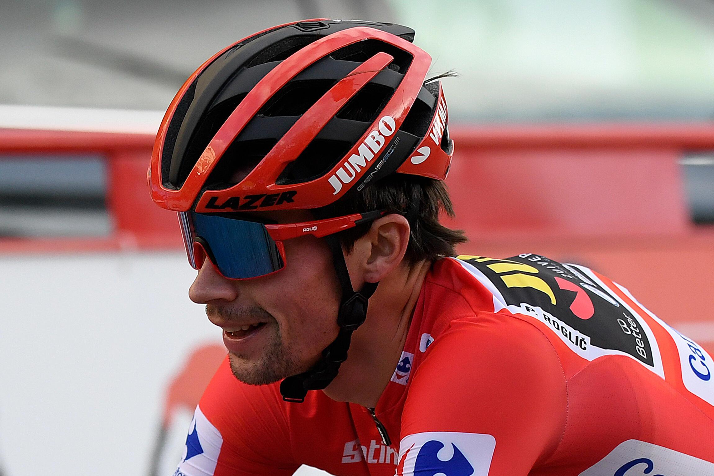 Le Slovène Primoz Roglic remporte le Tour d'Espagne à l'issue de la 18e et dernière étape, le 8 novembre 2020 à Madrid