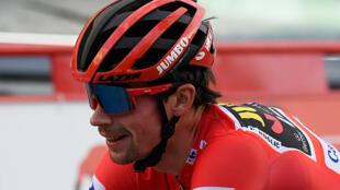 Le Slovène Primoz Roglic lors du Tour d'Espagne 2020.