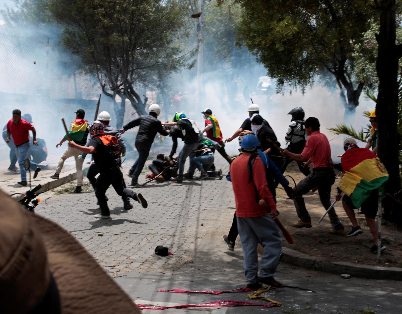 Manifestations à La Paz, le 28 de octobre 2019.