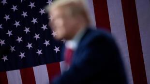 El presidente de Estados Unidos, Donald Trump, habla durante un evento el Cobb Galleria Center el 25 de septiembre de 2020, en Atlanta, Georgia.