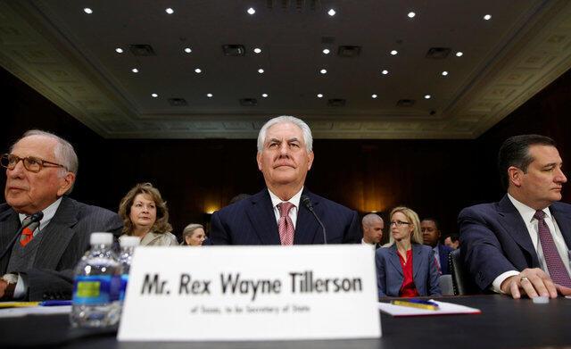 Ông Rex Tillerson trong phiên thẩm định của Ủy Ban Đối Ngoại Thượng Viện Mỹ, ngày 11/01/2017.