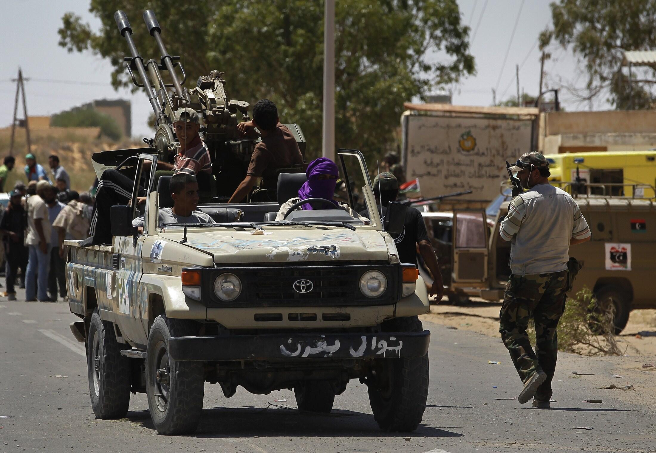 'Yan tawayen Libya a Garin Zawiyah