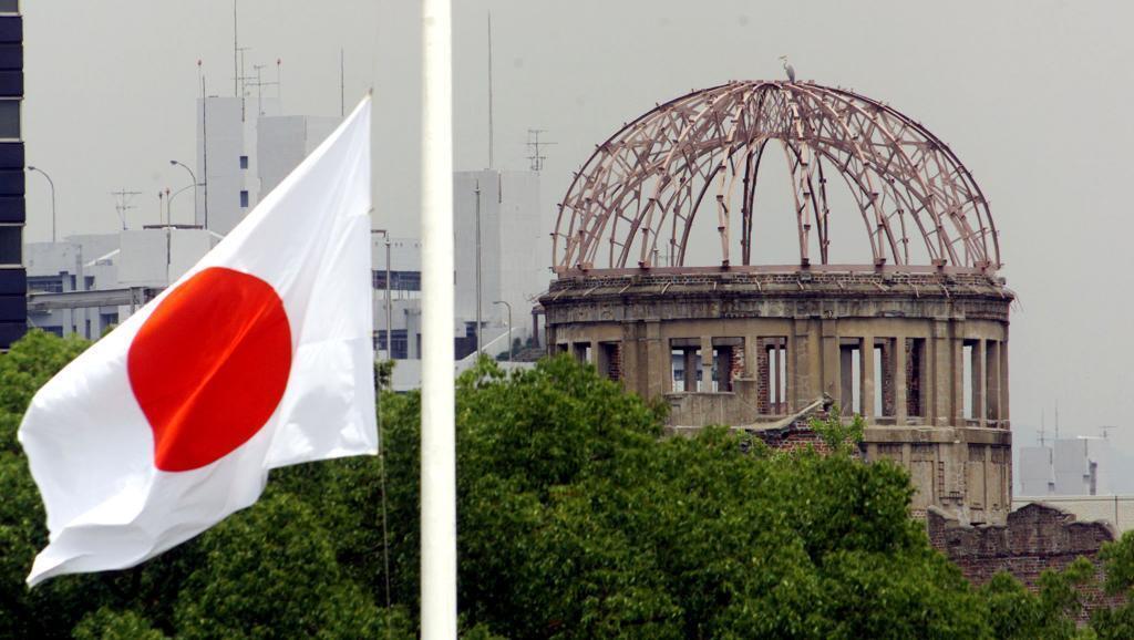 Eneo la kumbukumbu kulikorushwa bomu la nyuklia Agosti 6, 1945 Hiroshima, na kusababisha vifo vya watu 140,000.