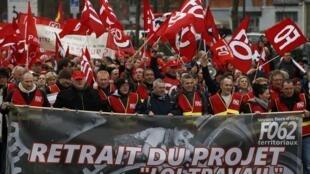 Biểu tình chống dự luật lao động tại Lille (Pháp) ngày 31/03/2016.