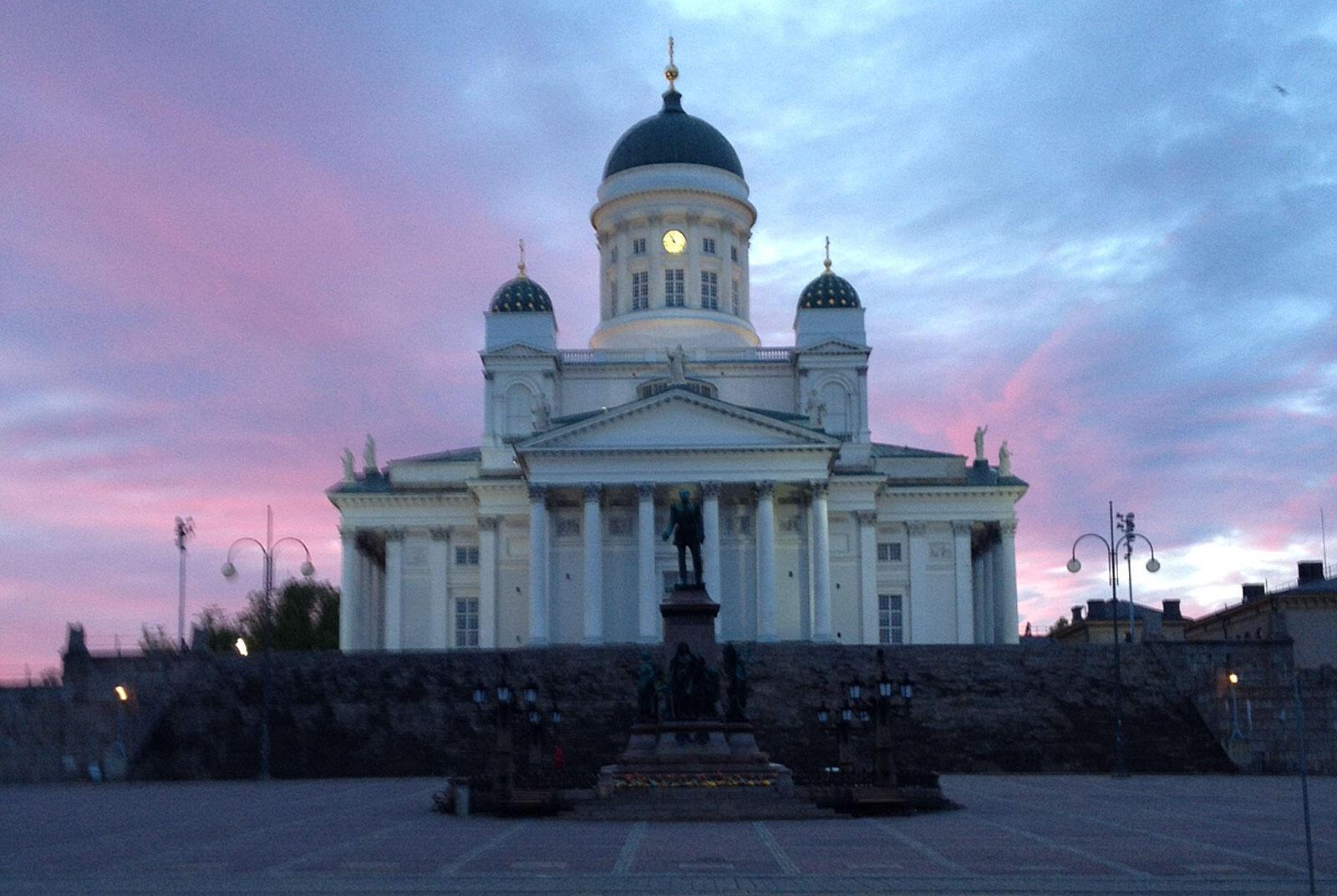 La cathédrale luthérienne d'Helsinki.