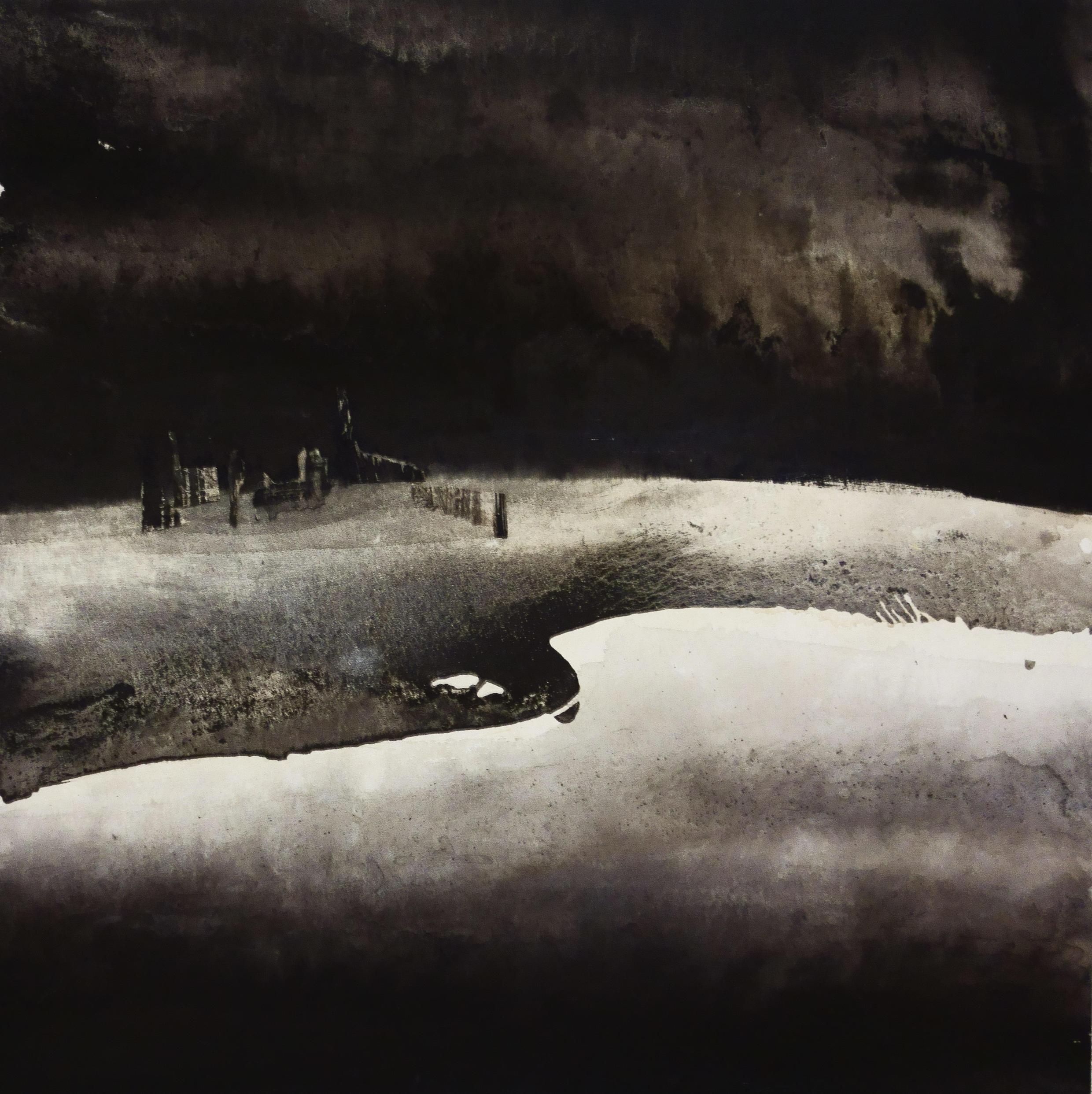 Li Chevalier : « 8 Sept 11 The Sky of Beijing » (2014), 150 x 150 cm.