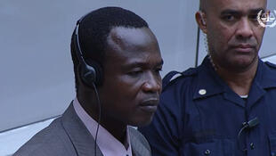 Aliyekuwa kamanda wa kikosi cha waasi wa Uganda, LRA, Dominic Ongwen, akiwa katika mahakama ya ICC, 6 December 2016