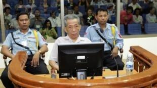 Khmer Rouge torturer Kaing Guek Eav, better known as Duch during his trial in Phnom Penh in 2008
