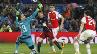 Một trận đấu giữa đội FC Barcelona với đội Arsenal tại Tây Ban Nha ngày 13/06/2016.