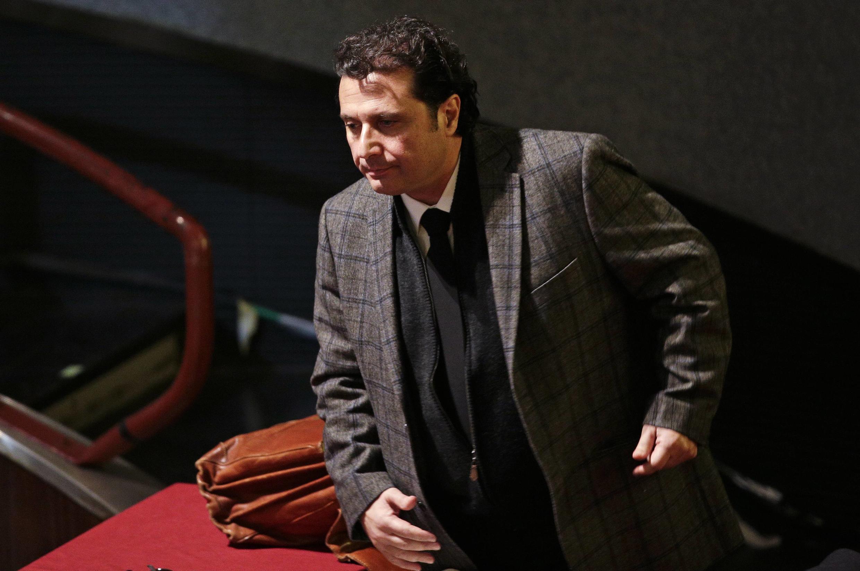 O comandante Francesco Schettino, durante uma sessão do julgamento