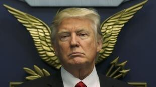 O Presidente dos Estados Unidos, Donald Trump. Washington. 27 de Janeiro de 2017