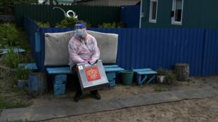 Выездное голосование в деревне Николаевка Омской области. 26 июня 2020 г.