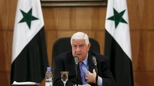 Foreign Minister Walid al-Moualem during a press conference last week