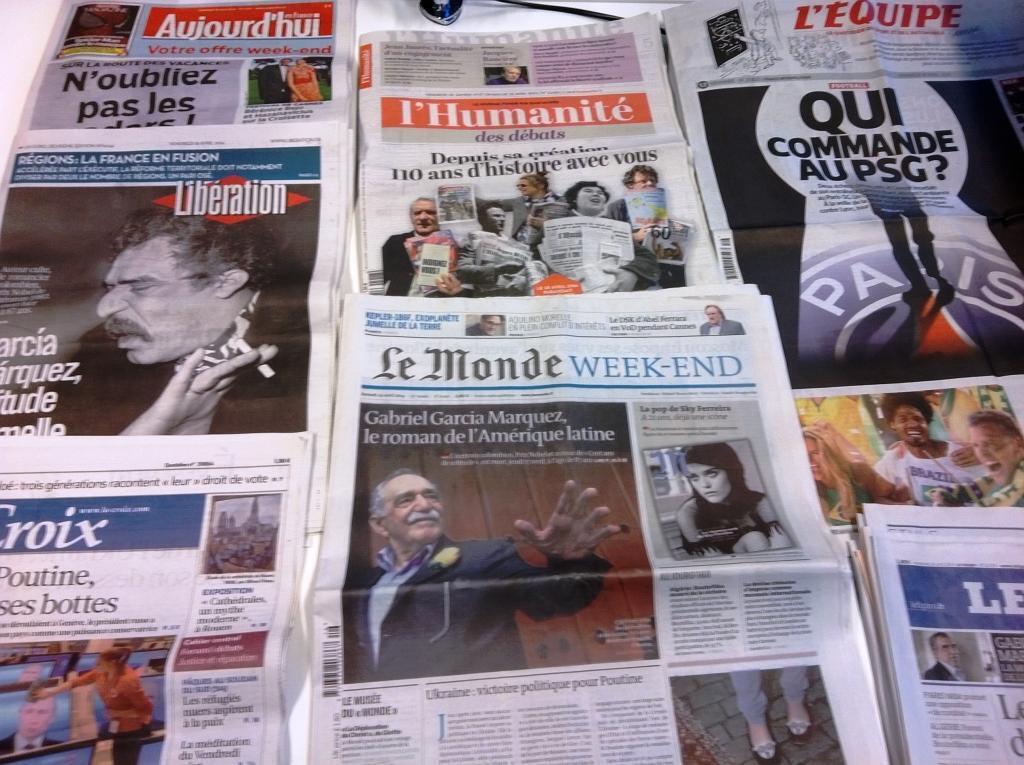 Diários franceses 18/04/2014